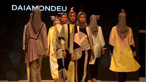 Creations presented at Muslim Fashion Festival in Jakarta