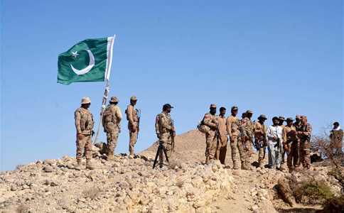 Security forces conduct search operation in Dera Bugti, Pakistan