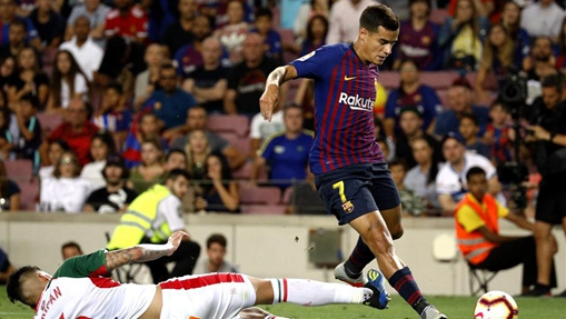 FC Barcelona beats Deportivo Alaves 3-0 during Spanish La Liga soccer match