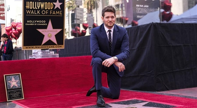 Michael Buble attends star honoring ceremony on Hollywood Walk of Fame