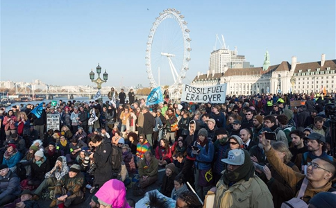 Climate activists protest in central London