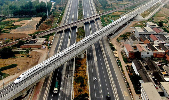 Zhengzhou section of Taiyuan-Jiaozuo High-speed Railway begins debugging, checking works