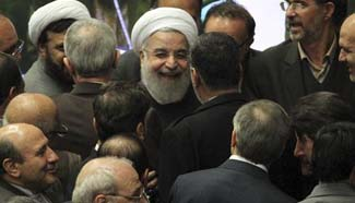 Rouhani presents 75-billion-dollar budget draft to parliament
