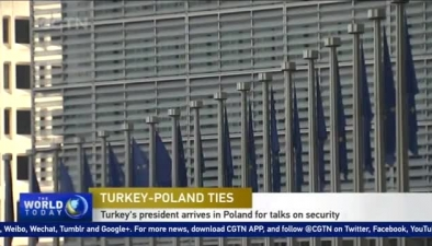 Turkey's president arrives in Poland for talks on security
